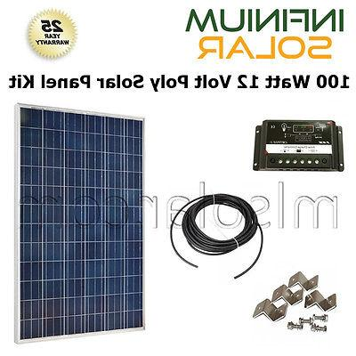 SOLAR KIT 100Watt 100 W 100W 12V Battery Charger Solar Panel