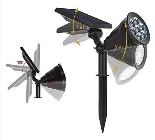 Lepord 7 LED Solar Outdoor Spot for Garden Landscape Spotlights Dark Sensing Auto Solar Lights For Yard Lawn