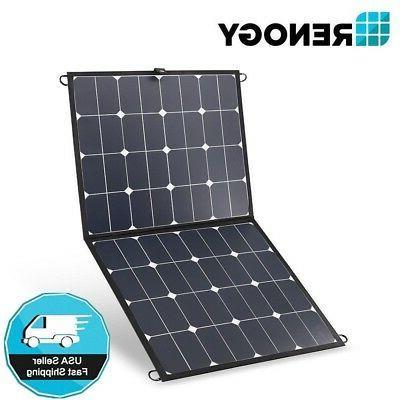 Renogy 100W Solar Suitcase Folding 12V Battery