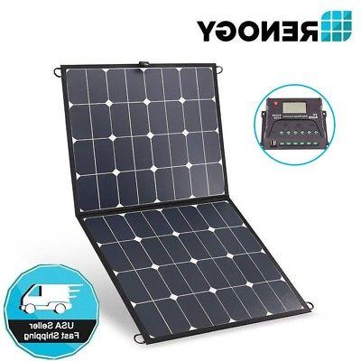 lightweight 100w eclipse solar panel suitcase folding