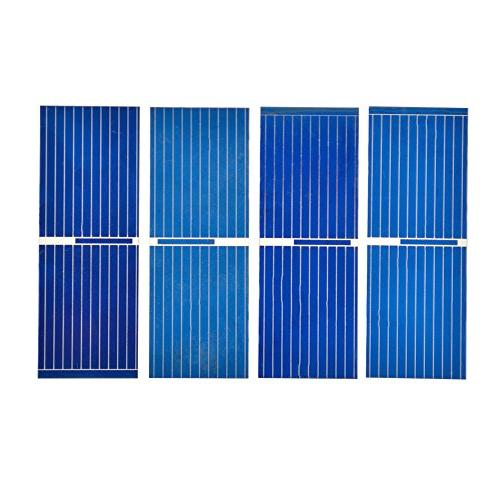 AOSHIKE 100pcs 0.5 Micro cell x inches Silicon Photovoltaic Solar Sun for Charger