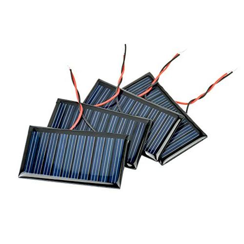 AOSHIKE 10Pcs Micro Solar Panels Solar Power Cells Materials photovoltaic Cells