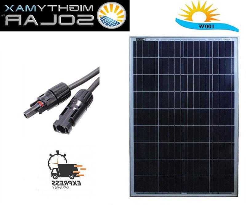 mighty max 100 watt solar panel 12v