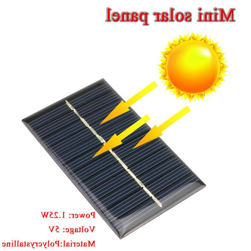 Mini 5V 1.25W Solar Panel Module Light Cell Charger DIY