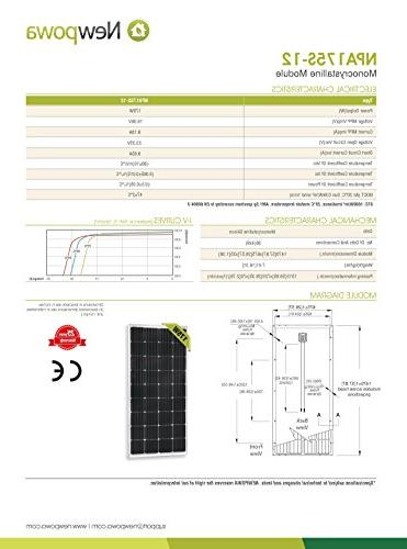 Newpowa 175W Watt 12V High Efficiency Module