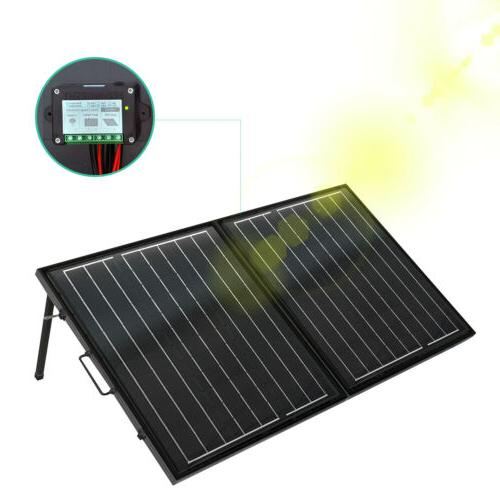 100W Folding Foldable Mono Solar Panel for RV PV Boat Car Ba