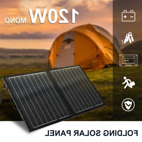 ECO 50W 100W 120W Folding Solar Panel Suitcase 12V Battery C