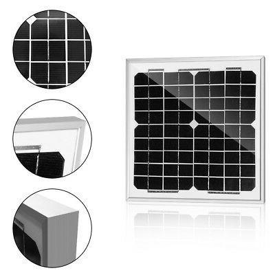 ACOPOWER 10w 10Watt Mono Solar Panel for 12V Battery Chargin