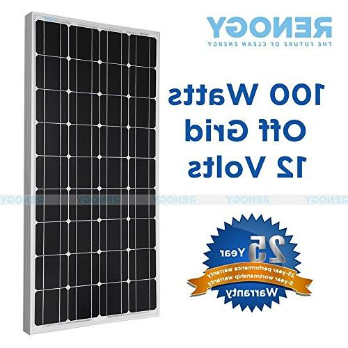 100 Watt Mono Solar Panel Bundle Off for RV Boat