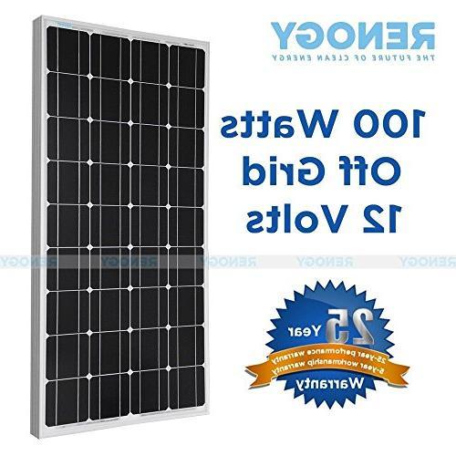 100 Watt Mono Solar Panel Bundle Off for RV Boat