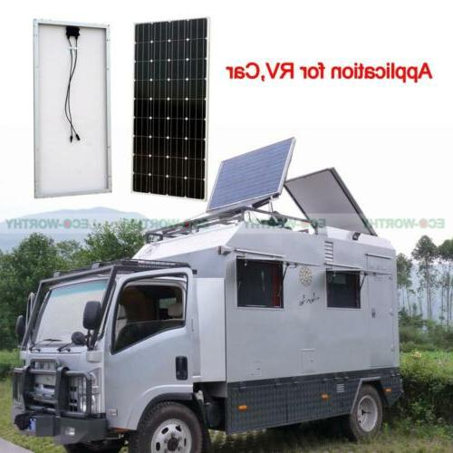 100W Mono Panel Solar System Outdoor Camping RV