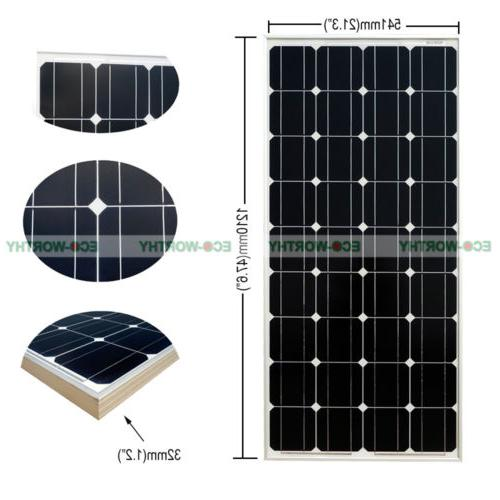 100W Panel off Solar System Outdoor Camping RV