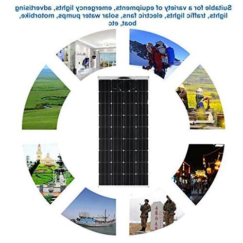 Panel Solar Power Mono Module RV, Cabin, Tent, Car, Trailer or Other Irregular Surface