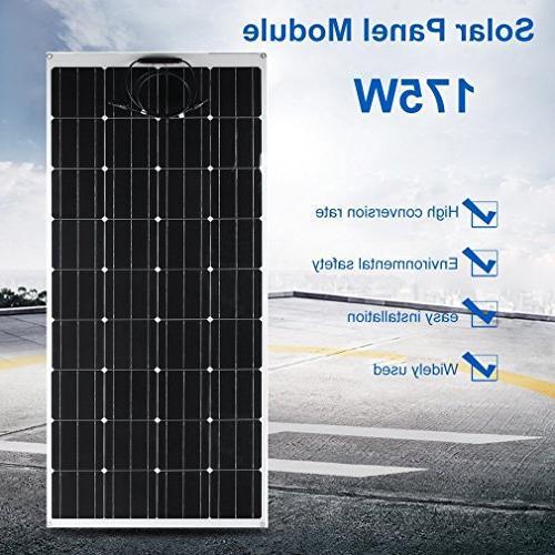175W Flexible Solar Panel Outdoor Power Mono Module for RV, Cabin, Car, Trailer Other Irregular