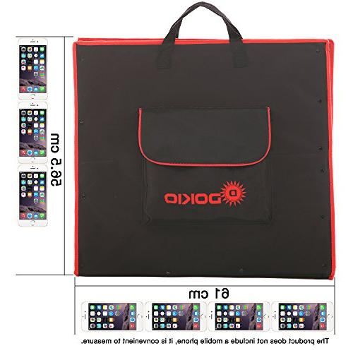 DOKIO Volts Foldable Panel with Charge Controller