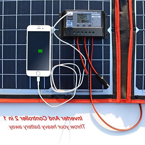 DOKIO 80 Watts 12 Volts Monocrystalline Panel with Charge Controller