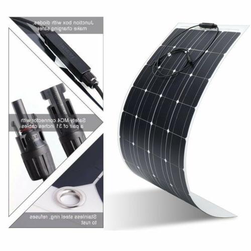 Monocrystalline Solar 100 Watts Charge Car RV Boat LOT MA