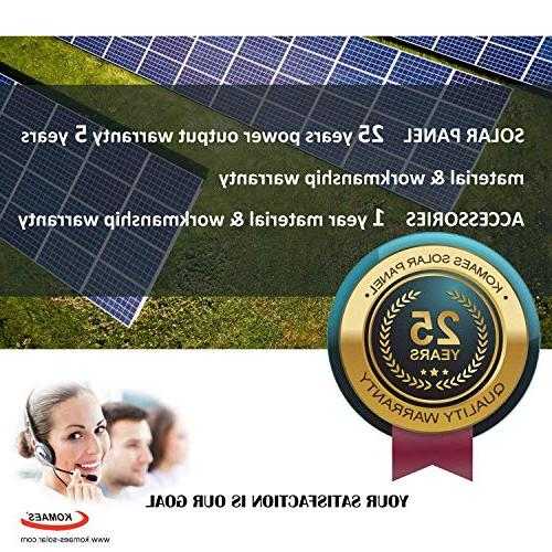 Komaes Volts Monocrystalline Solar panel