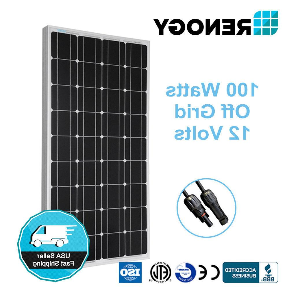 Renogy Best Seller 100 Watt Solar Panel 12 Volt Monocrystall