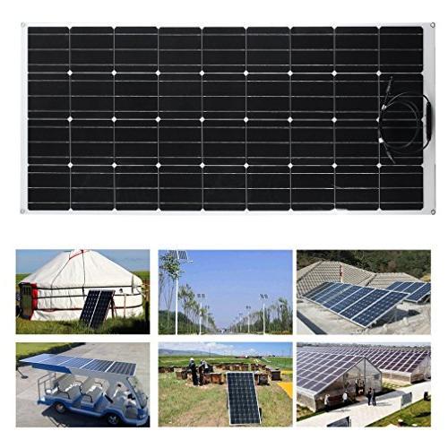 Genuine 175 175W Panel MC4 Flexible Monocrystalline Off Grid Battery for Boats, Cabin, Tent, Car, Ultra
