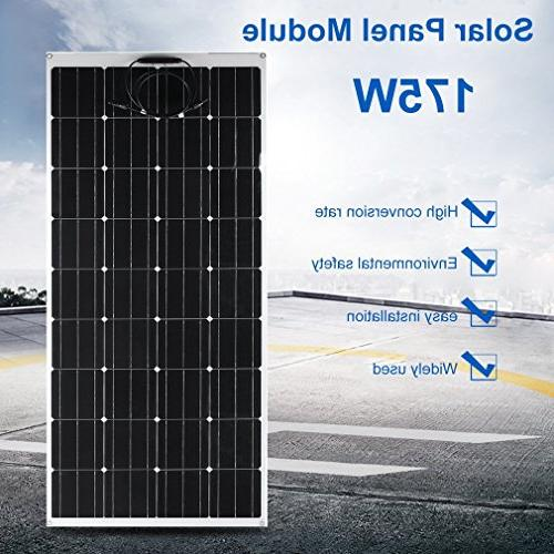 Genuine 175W Panel with Flexible Off Grid Battery Cabin, Car, Trailer, Ultra Thin