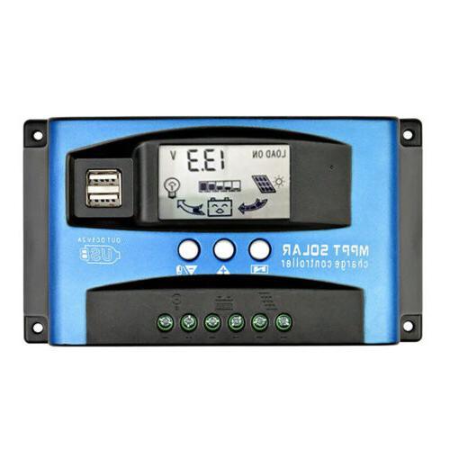 MPPT Regulator Battery Solar 12/24V USB;