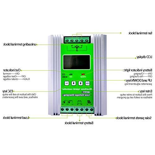 NEWIGOR 1400W Solar Hybrid Controller Auto 800W Generator 600W Booster