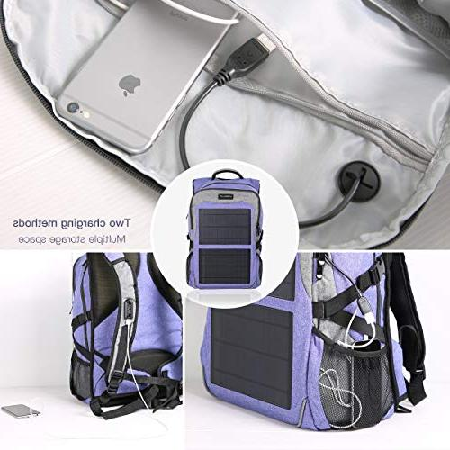 Kingsolar Function Backpack with Panel Charger Ports Laptop Electronic Devices