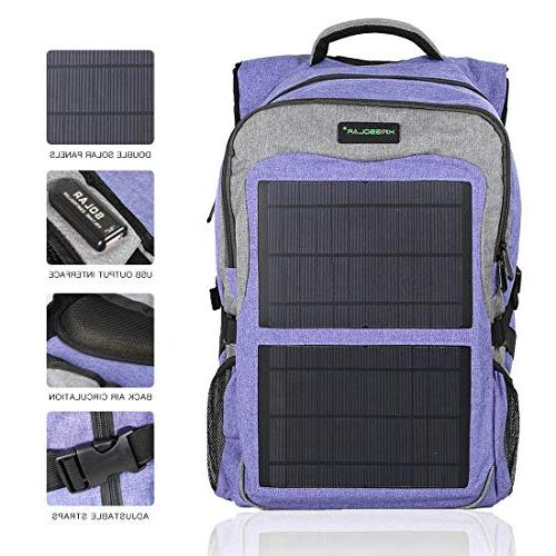 Kingsolar Function Solar Backpack with Panel Charger Two USB Devices