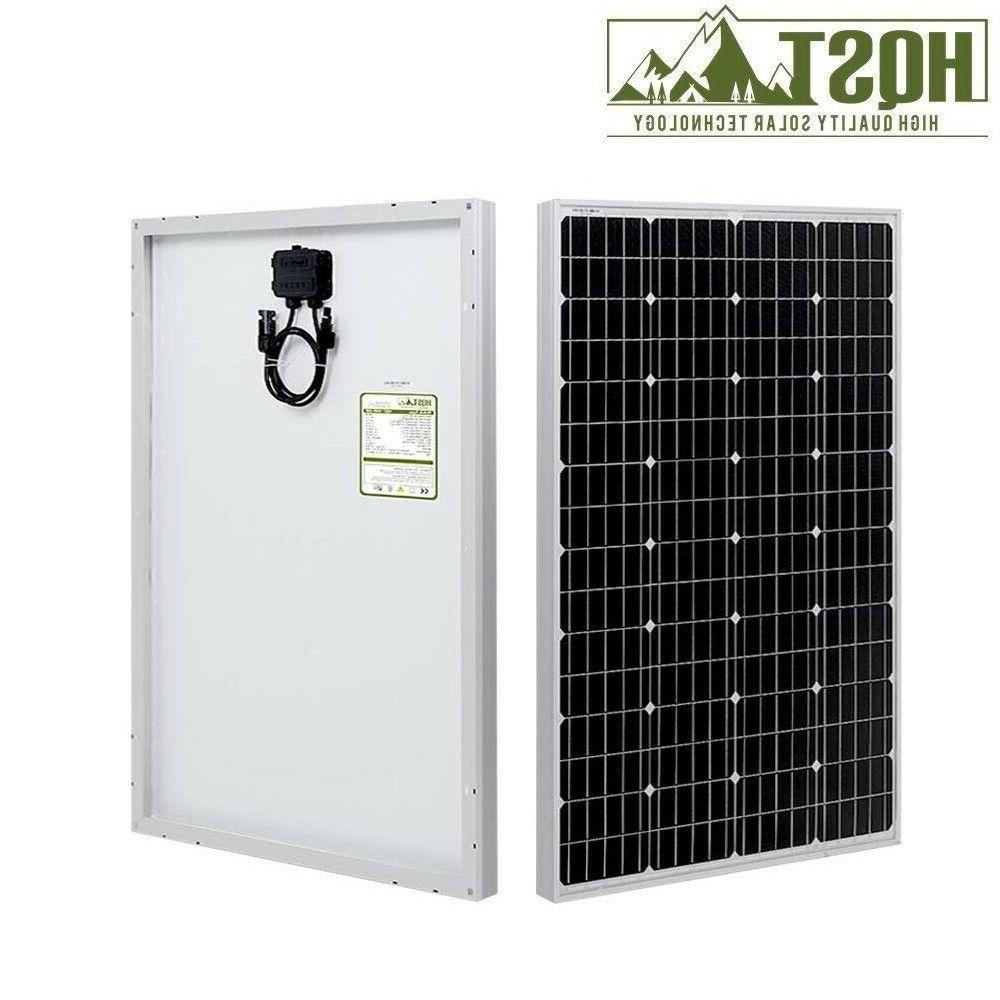 HQST 100W Watt Panel 100W Monocrystalline RV BOAT