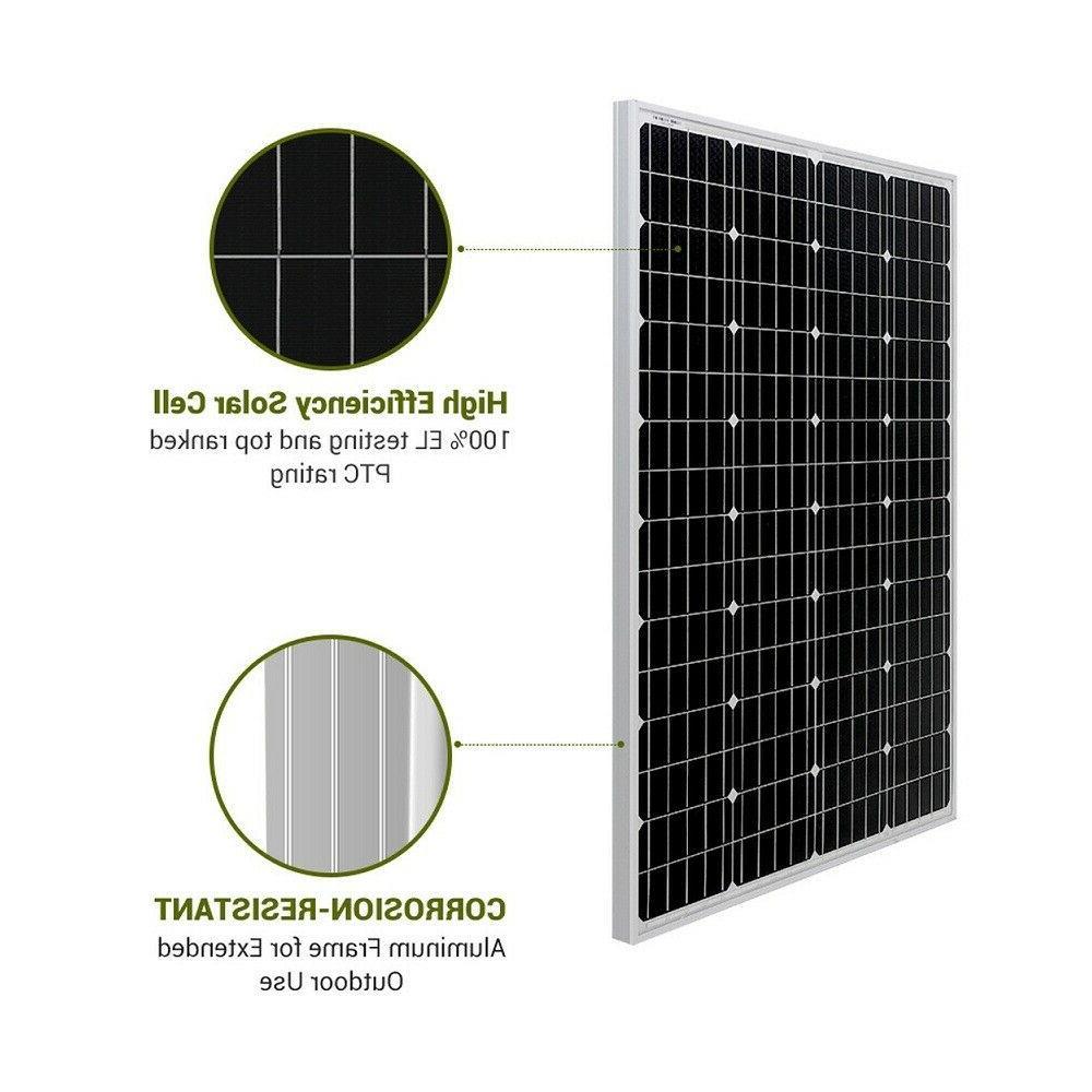 HQST 100W Solar Panel Monocrystalline RV