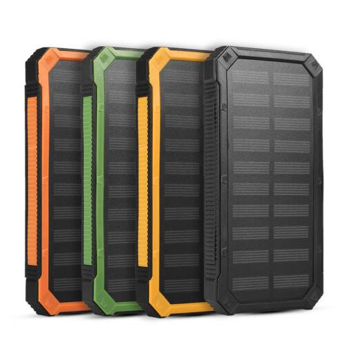 New 20000mAh Solar Power Bank Charger for Cell Phone No Batt