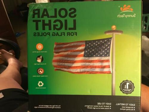 new 2nd generation solar flag pole 20