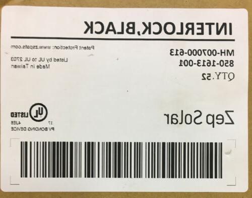 NEW ZEP SOLAR Interlock BLACK Listed MH-007000-613