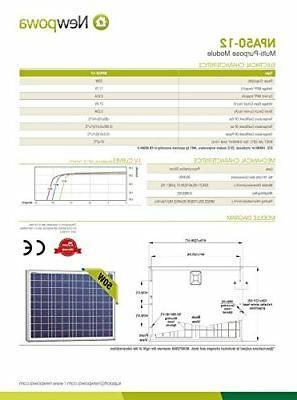 NewPowa efficiency 12V Module RV Off Grid