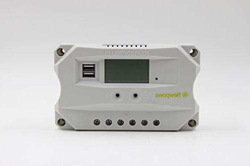 Newpowa 50w 12v Solar Panel + 10A Charge Controller USB