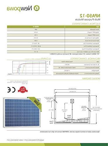 Newpowa Watt Solar Panel USB