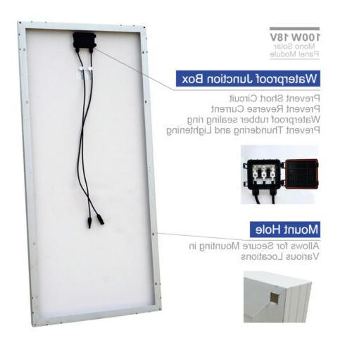 100W Watt Panel charge Marine Home