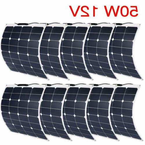 Solar Cynergy 50/100/200 Watt 12 Volt Mono Flexible Bendable