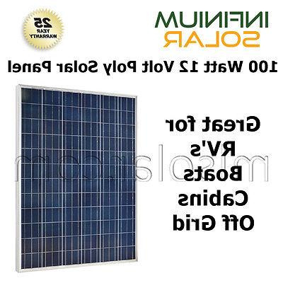 Solar Panel 10W 20W 50W 100 WATT 12V Volt German Cells RV BO