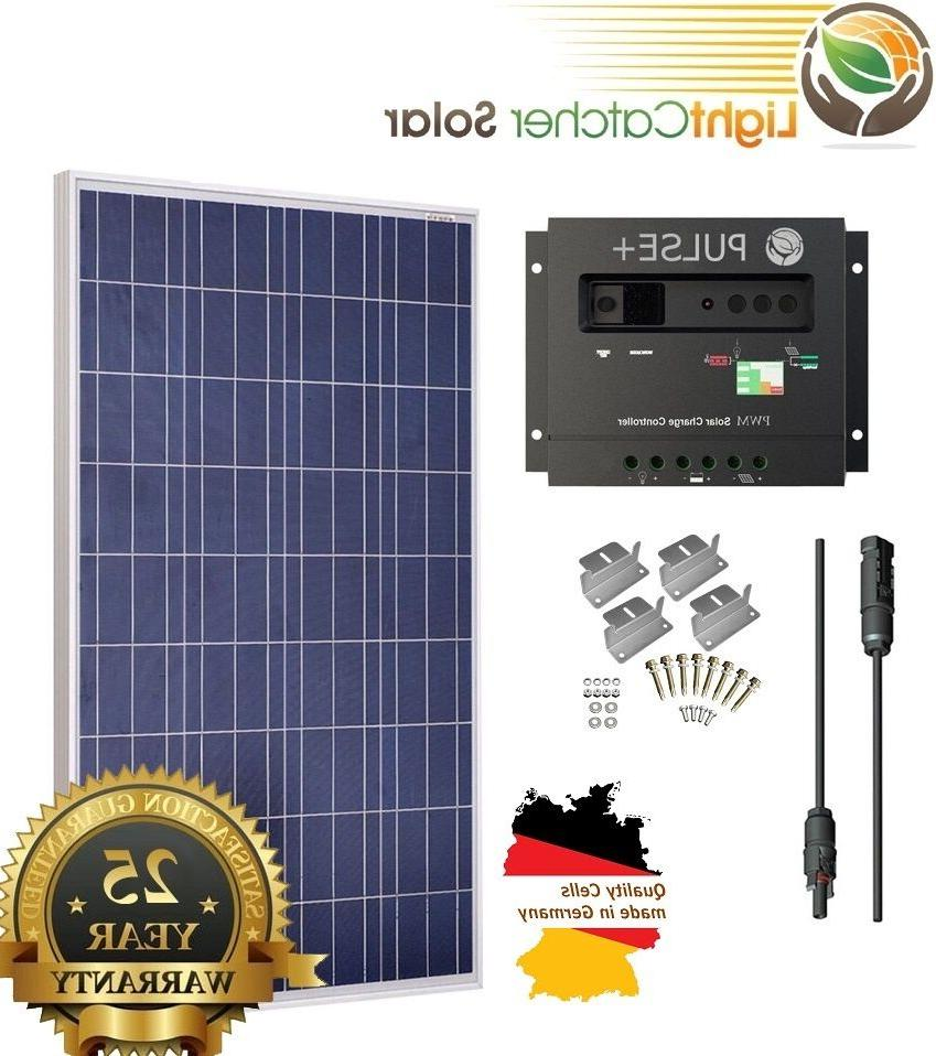 100 Watt 100W Solar Panel Kit with Solar Charge Controller 1