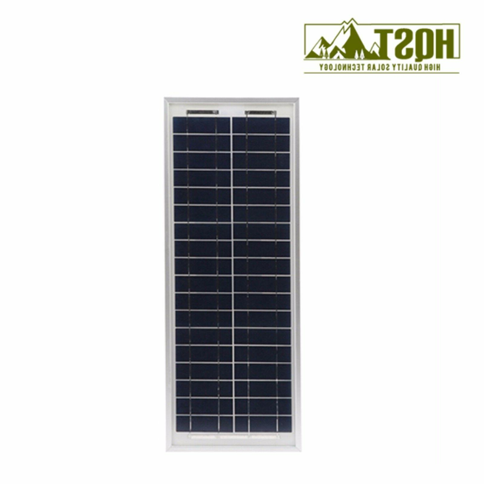 10W Poly Solar Panel Module 12V 5V USB Gate Door Open