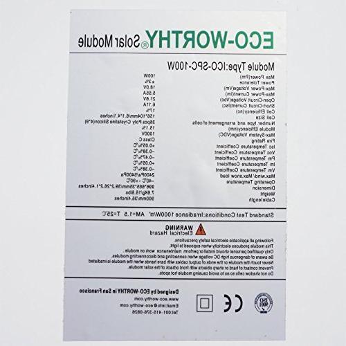 100 Polycrystalline Panel Volt Charging RV