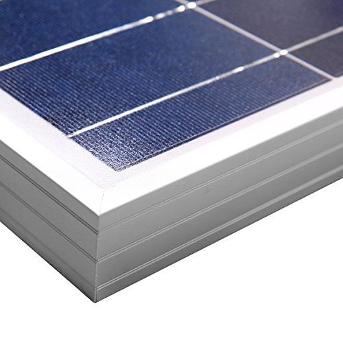 ECO-WORTHY Watts 100 Polycrystalline Panel 12 Volt Battery Charging for