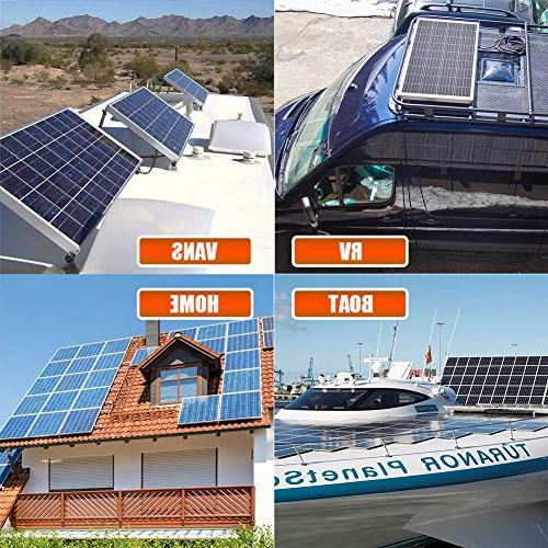 Richsolar 100W 12V Panel High Efficiency Poly RV Boat Grid