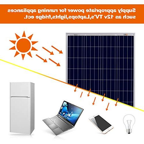 Richsolar Watt 100W Solar High Poly RV Marine Grid