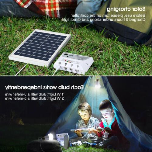 Portable 2 Outdoor Indoor Solar LED Panel