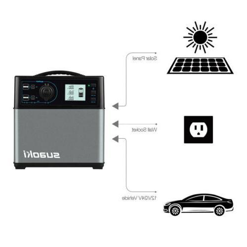 Suaoki 400Wh Solar Power Energy Storage 4-USB