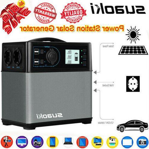 Portable 400Wh Solar Power Inverter Generator Supply Energy