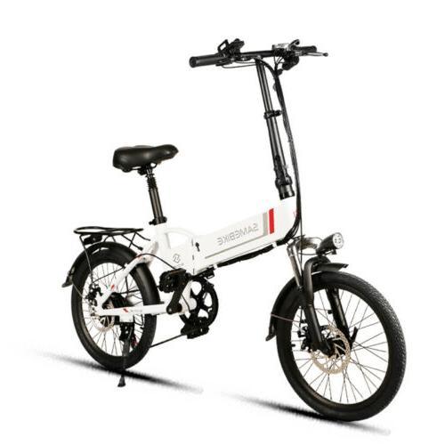 "20"" Folding E-Bike Mountain Bike 7 Speed"